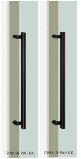 UNION ユニオン ドアハンドル ミドル T2890-10/20-798/794-L600 内/外1セット