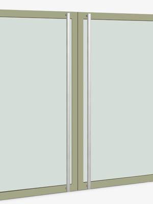 UNION ユニオン ドアハンドル ロング T55-01-001-B 内/外1セット※
