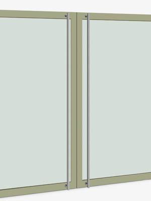 UNION ユニオン ドアハンドル ロング T61-01-023-C 内/外1セット※