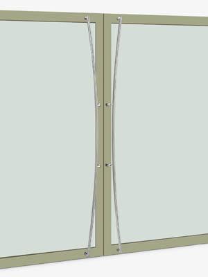 UNION ユニオン ドアハンドル ロング T3005-01-034-B 内/外1セット※