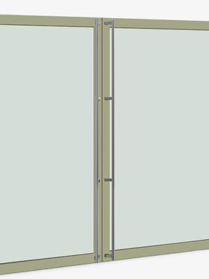 UNION ユニオン ドアハンドル ロング T561-01-001-B 内/外1セット※
