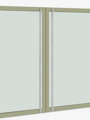 UNION ユニオン ドアハンドル ロング T51-01-023-A 内/外1セット※