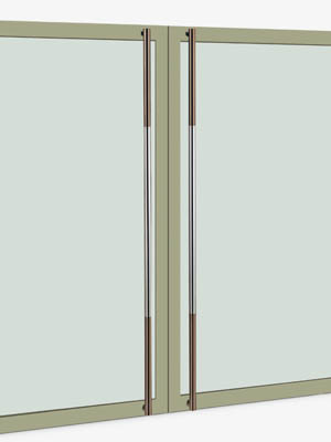 UNION ユニオン ドアハンドル ロング T51-01-011-B 内/外1セット※