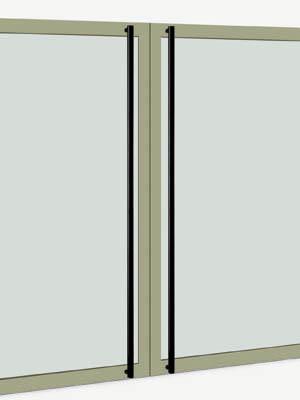 UNION ユニオン ドアハンドル ロング T51-35-101-A 内/外1セット※