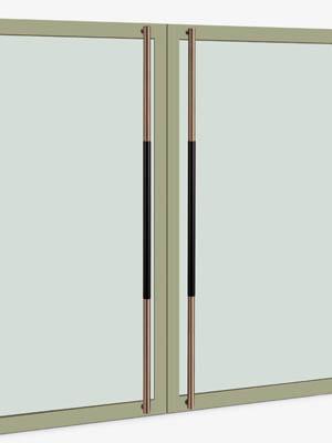 UNION ユニオン ドアハンドル ロング T62-36-109-A 内/外1セット※