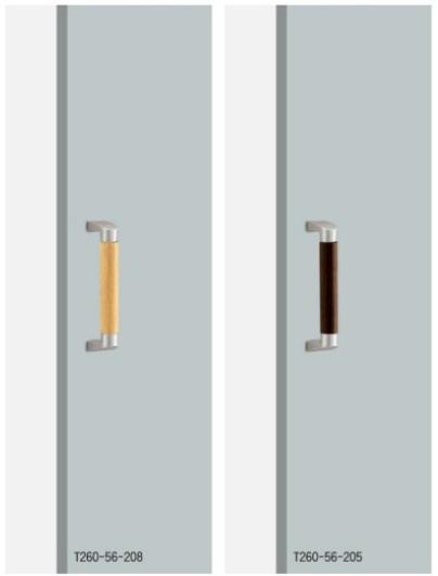 UNION ユニオン ドアハンドル ショート T260-56-208/205 内/外1セット