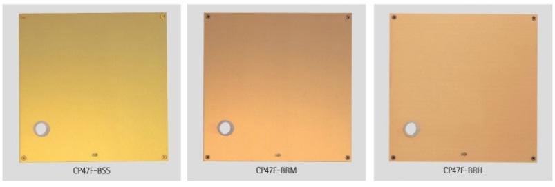UNION ユニオン レバーハンドル コーディネートプレート CP47F-BSS/BRM/BRH 2枚1組