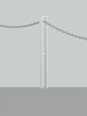 UNION ユニオン LP-2077F-SIL ヒューランドスケープ ランドポール車止め※