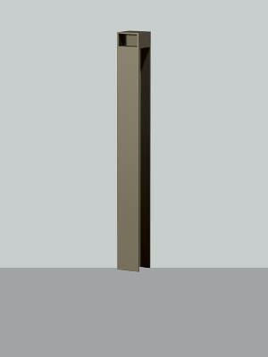 UNION ユニオン LP-2043K-TUP ヒューランドスケープ ランドポール車止め※