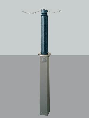 UNION ユニオン LP-536M-PAT ヒューランドスケープ ランドポール車止め※