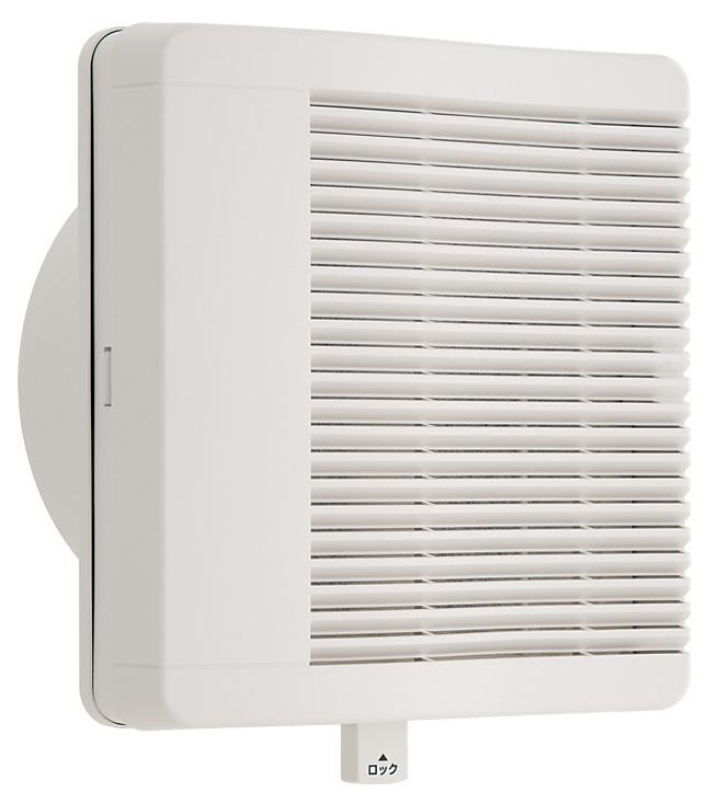 ユニックス 室内用製品 差圧式給気口 PDG150BWFH 壁取付用 ガラリカバー 不織布フィルター(粗塵・花粉対策)