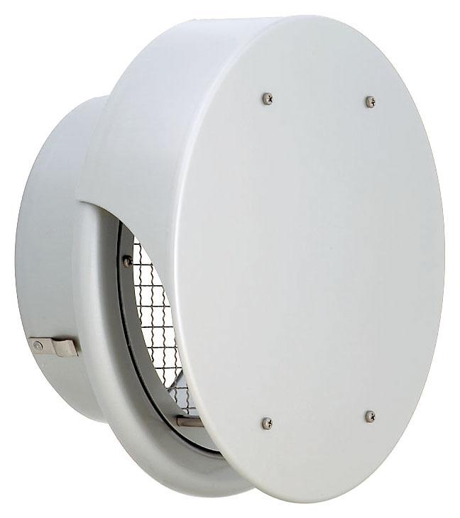 ユニックス 屋外用製品 アルミ製 グリル 外風対策 BUW300S3M 丸型フラットカバー付 メッシュ