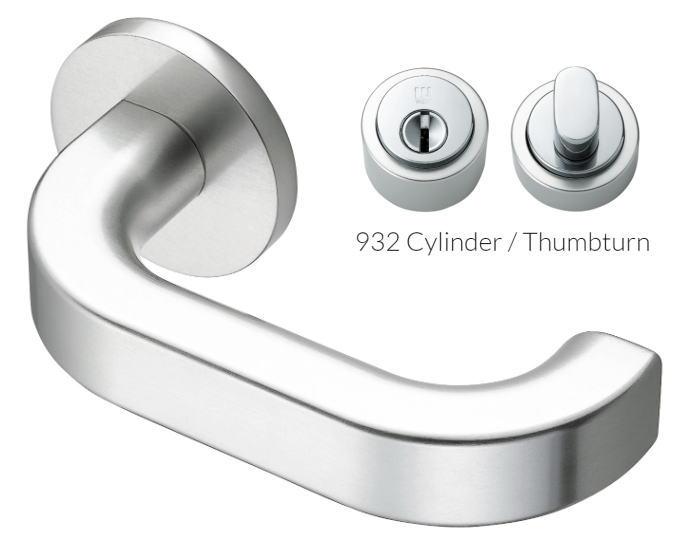 ウエスト レバーハンドル 215L-CA205-SA アルミシルバー/シリンダー錠 ggシリーズ ウェスト/WEST