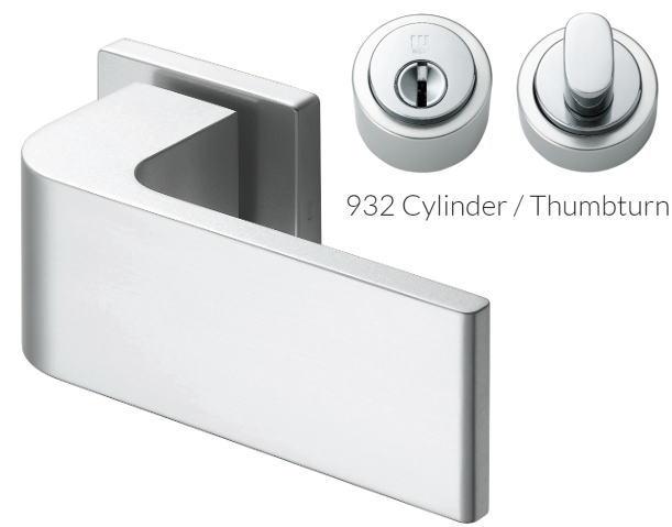 ウエスト レバーハンドル 235-CA205-SA アルミシルバー/シリンダー錠 ggシリーズ ウェスト/WEST