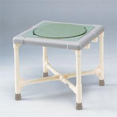 ヤザキ(個人宅配送不可) シャワーいす ターンテーブルタイプ シャワーベンチF型 ターンテーブルタイプ(大) CAT-0201