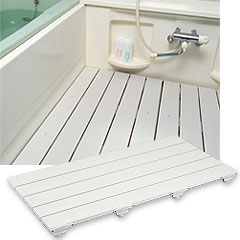 ヤザキ(個人宅配送不可) フォーアクセスすのこ 浴室用すのこ 400mm×800mm CWF クリームグレー/アイボリー