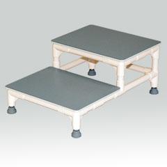 ヤザキ(個人宅配送不可) イレクター製ステップ台 上がり框用踏み台 2段 CHA-4