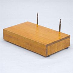 ヤザキ(個人宅配送不可) 木製シリーズ スタンダードタイプ ステップ台 上がり框用踏み台 天然木製仕様 TST-03A