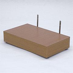 ヤザキ(個人宅配送不可) 木製シリーズ スタンダードタイプ ステップ台 上がり框用踏み台 土足マット仕様 TST-03C