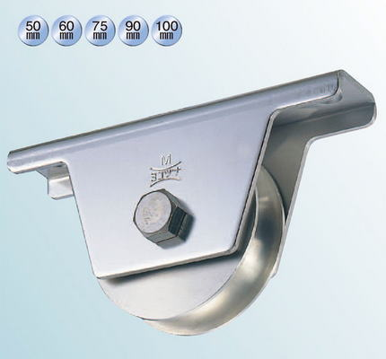 ヨコヅナ JBS-0751 ステンレス重量戸車 75 溝R (2個入)