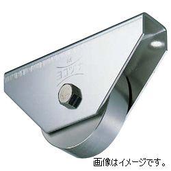 ヨコヅナ JCP-1002 440Cベアリング入ステンレス重量戸車 車のみ 100 平 (1個入)