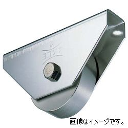 ヨコヅナ JCP-1102 440Cベアリング入ステンレス重量戸車 車のみ 110 平 (1個入)