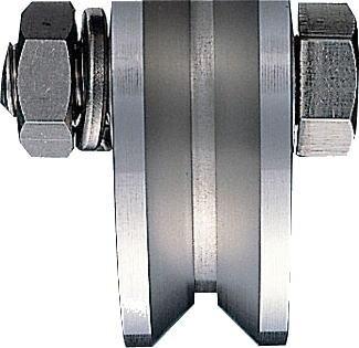 ヨコヅナ JCS-0505 440Cベアリング入ステンレス重量戸車 50 V (2個入)