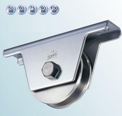 ヨコヅナ JCS-0756 440Cベアリング入ステンレス重量戸車 75 兼用 (2個入)