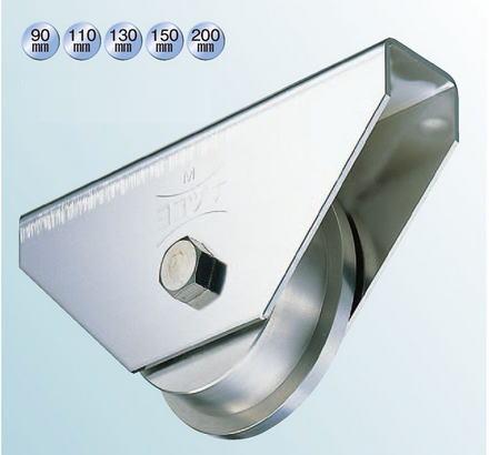 ヨコヅナ JCS-1107 440Cベアリング入ステンレス重量戸車 110 トロ (1個入)