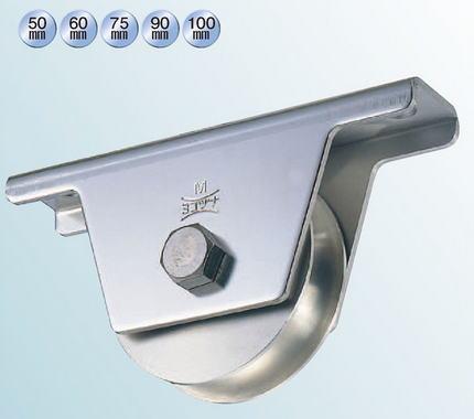 ヨコヅナ JCS-2001 440Cベアリング入ステンレス重量戸車 200 溝R (1個入)