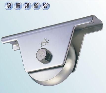 ヨコヅナ JCS-2008 440Cベアリング入ステンレス重量戸車 200 山R (1個入)