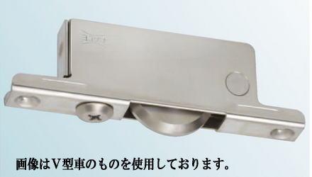 ヨコヅナ TBS-0502 重量調整戸車ステン枠BRG入ステンレス車 50 平 (4個入)
