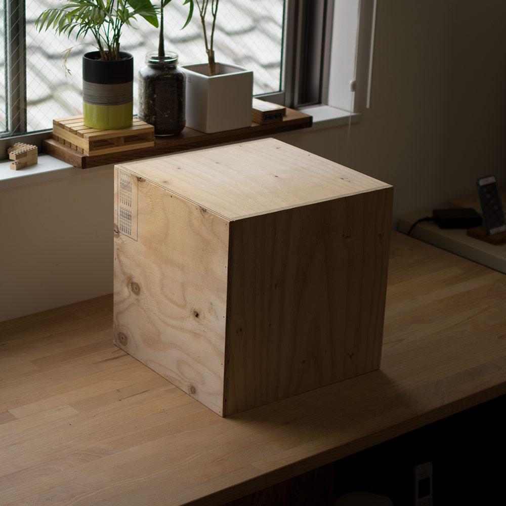 レコードラック レコードボックス 50枚 キューブボックス BOX 木箱 木製