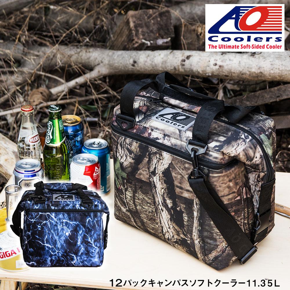 AOクーラーズ AO coolers エーオークーラーズ 12パック キャンバス ソフトクーラーバッグ ブルーフィン クーラーボックス 小型 12缶用 11.35L モッシーオーク 迷彩 ハンターシリーズ