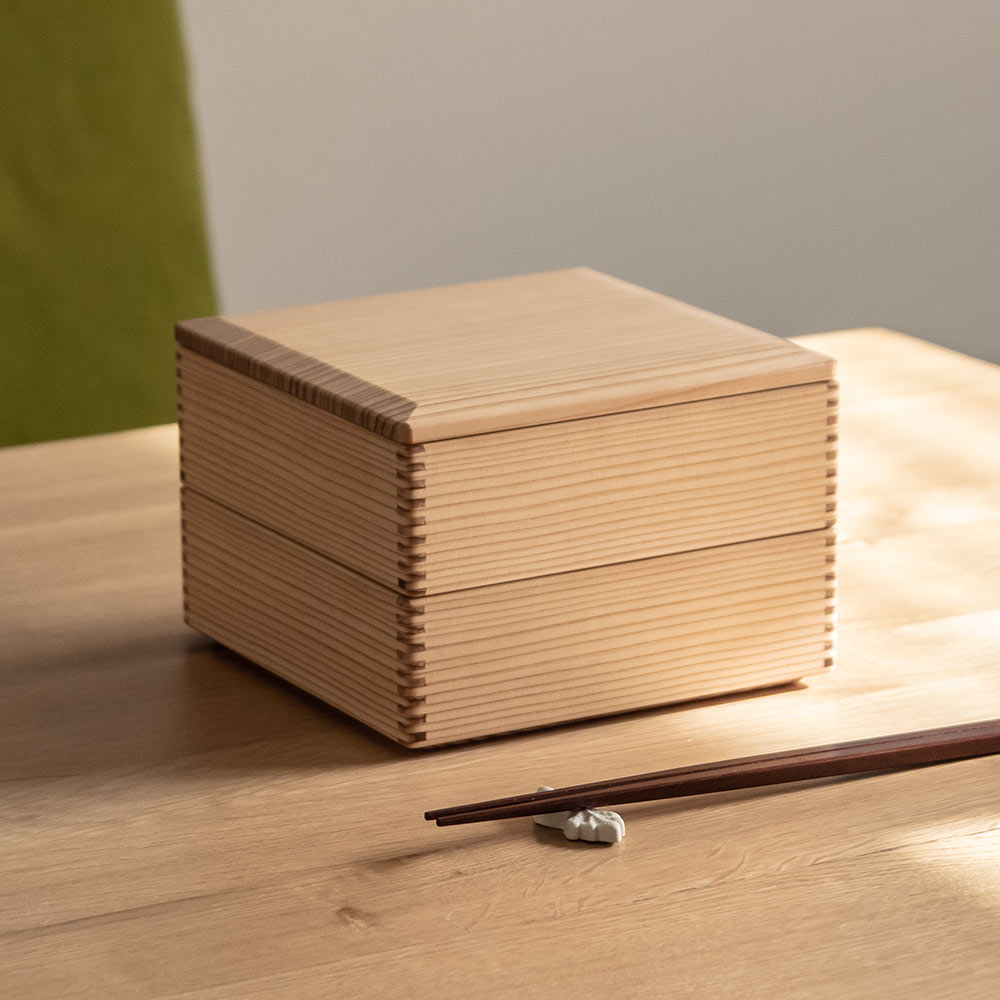 二段重箱 弁当箱 宮崎杉 木製 松野屋 日本製 1900ml