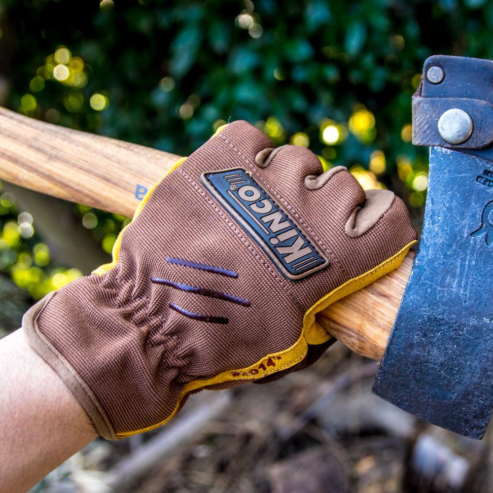 選べる3サイズ DIYやガーデニング 新作送料無料 キャンプなどアウトドアに最適なワークグローブ 手袋としても使えるのでツーリングに ストアー スーパーSALEで使えるクーポン配布中 キンコ グローブ Kinco Pro Leather 2014 アウトドア 手袋 DIY キャンプ Synthetic Gloves