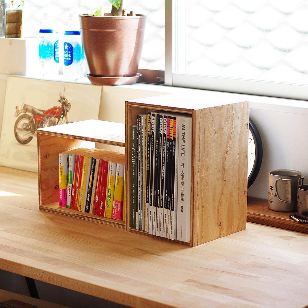 キューブボックス 木箱 ボックス 収納 什器 シェルフ ディスプレイラック ルーター Sサイズ 本棚 収納ボックス ブックシェルフ 文庫本 雑誌 文芸書 新書 CD DVD BD 整理