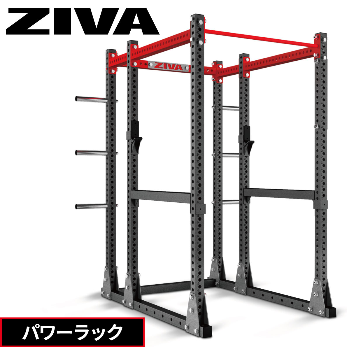 パワーラック ZIVA ジーヴァ ウエイトトレーニング 筋力トレーニング フリーウエイト ボックスタイプ ホームジム パワーケージ セーフティアーム 業務用 家庭用