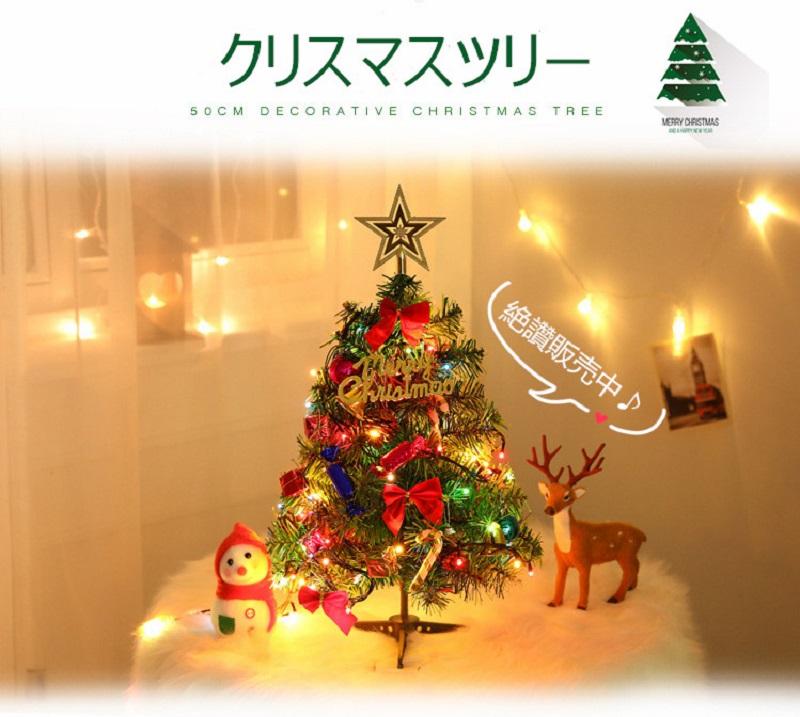 日時指定 送料無料 クリスマスツリー 飾り セール価格 卓上 ミニツリー プレゼント 予約販売 クリスマス 北欧 オススメ デコレーション クリスマス飾り おしゃれ LEDイルミネーション50cm 小型