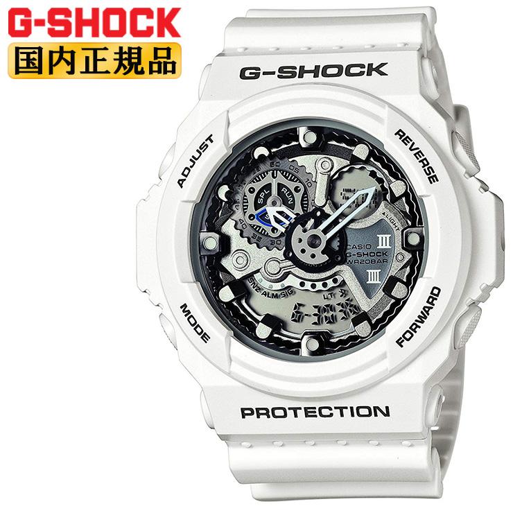 G-SHOCK 腕時計 Gショック デジタル×アナログコンビ 歯車をモチーフにした立体的な文字板 ホワイト GA-300-7AJF メンズ 【あす楽】【在庫あり】