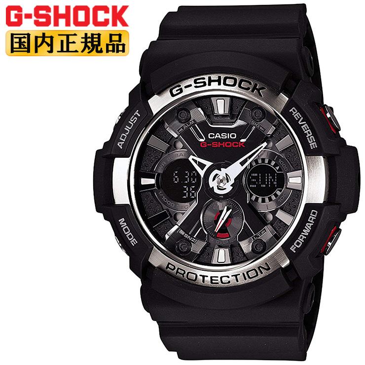 G-SHOCK ブラック カシオ Gショック GA-200-1AJF CASIO デジタル&アナログ コンビネーション ビッグケース 黒 メンズ 腕時計 【正規品/送料無料】【レビューで3年保証】【あす楽】【在庫あり】
