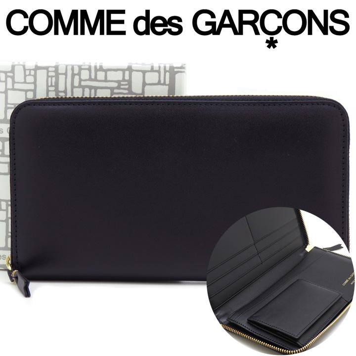 コムデギャルソン 長財布 COMME des GARCONS レディース メンズ ブラック SA0110 ARECALF BLACK 【あす楽】【送料無料】【着後レビューを書いて500円クーポン】