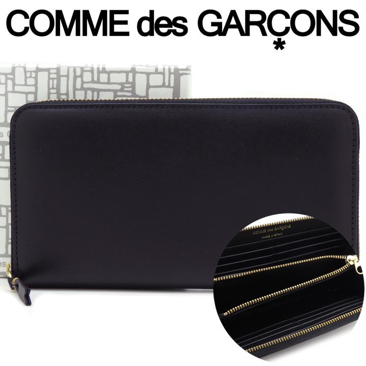 コムデギャルソン 長財布 COMME des GARCONS レディース メンズ ブラック SA0111 ARECALF BLACK 【あす楽】【送料無料】【着後レビューを書いて500円クーポン】