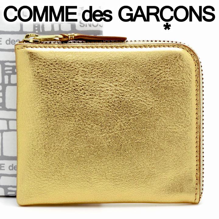 コムデギャルソン ミニ財布 コンパクト コインケース COMME des GARCONS レディース メンズ ゴールド SA3100G GOLD 【あす楽】【送料無料】【着後レビューを書いて500円クーポン】