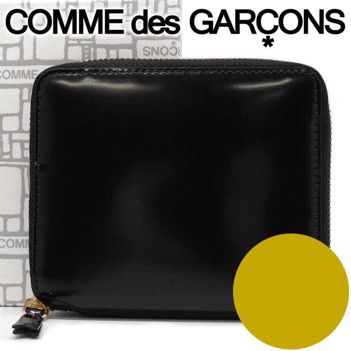 コムデギャルソン 二つ折り財布 COMME des GARCONS コンパクト財布 レディース メンズ ブラック×ゴールド SA2100MI MILLOR INSIDE GOLD 【あす楽】【送料無料】【着後レビューを書いて500円クーポン】