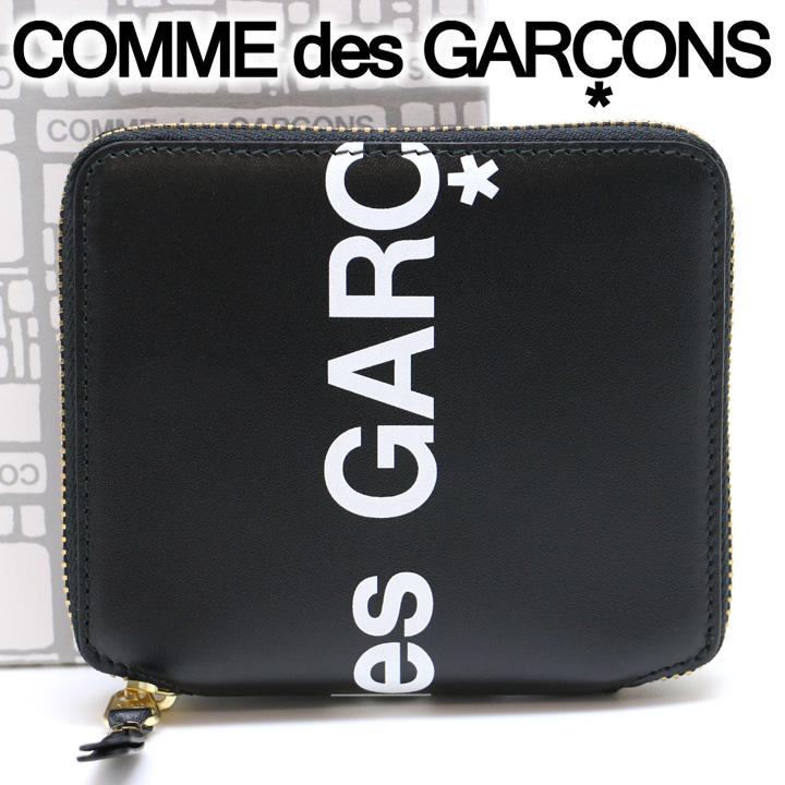 コムデギャルソン 二つ折り財布 COMME des GARCONS コンパクト財布 レディース メンズ ブラック SA2100HL HUGE LOGO BLACK 【あす楽】【送料無料】