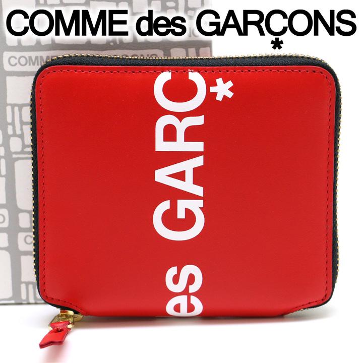 コムデギャルソン 二つ折り財布 COMME des GARCONS コンパクト財布 レディース メンズ レッド SA2100HL HUGE LOGO RED 【あす楽】【送料無料】【着後レビューを書いて500円クーポン】