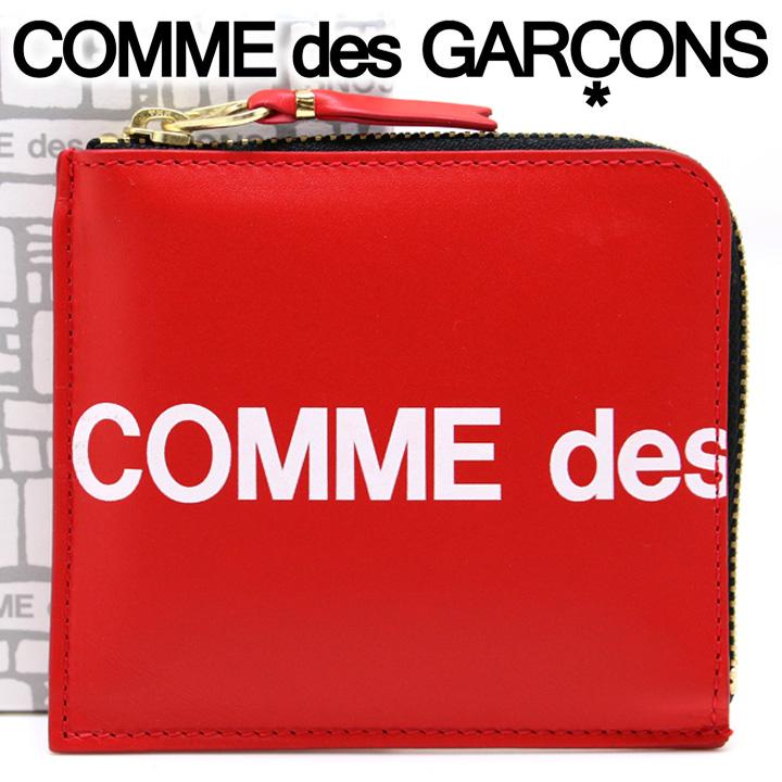 コムデギャルソン ミニ財布 コンパクト コインケース COMME des GARCONS レディース メンズ レッド SA3100HL HUGE LOGO RED 【あす楽】【着後レビューを書いて500円クーポン】