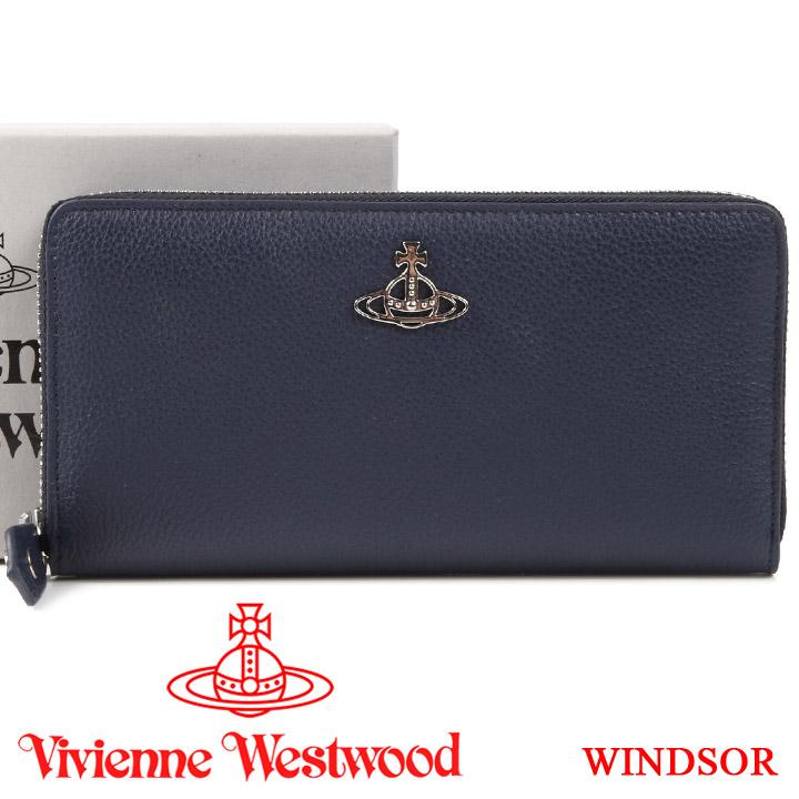 【クーポン配布中】 ヴィヴィアンウエストウッド 財布 ヴィヴィアン Vivienne Westwood ラウンドファスナー長財布 レディース メンズ ブルー 51050022 WINDSOR BLUE 【あす楽】【送料無料】