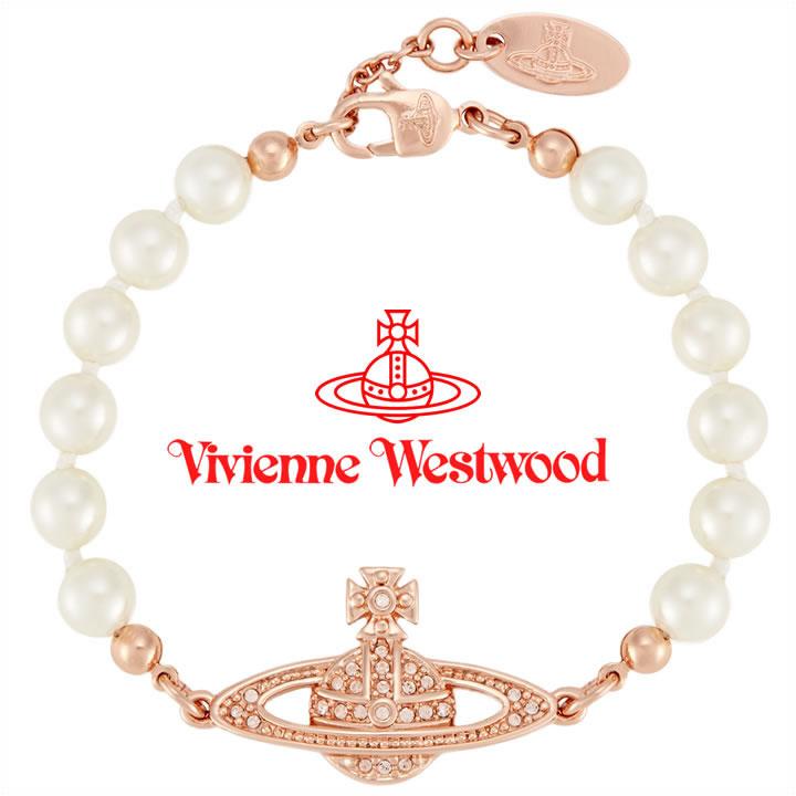 ヴィヴィアンウエストウッド ブレスレット Vivienne Westwood ヴィヴィアン ミニバスレリーフパールブレスレット ピンクゴールド×ホワイトパール 741443B/3 【あす楽】【送料無料】